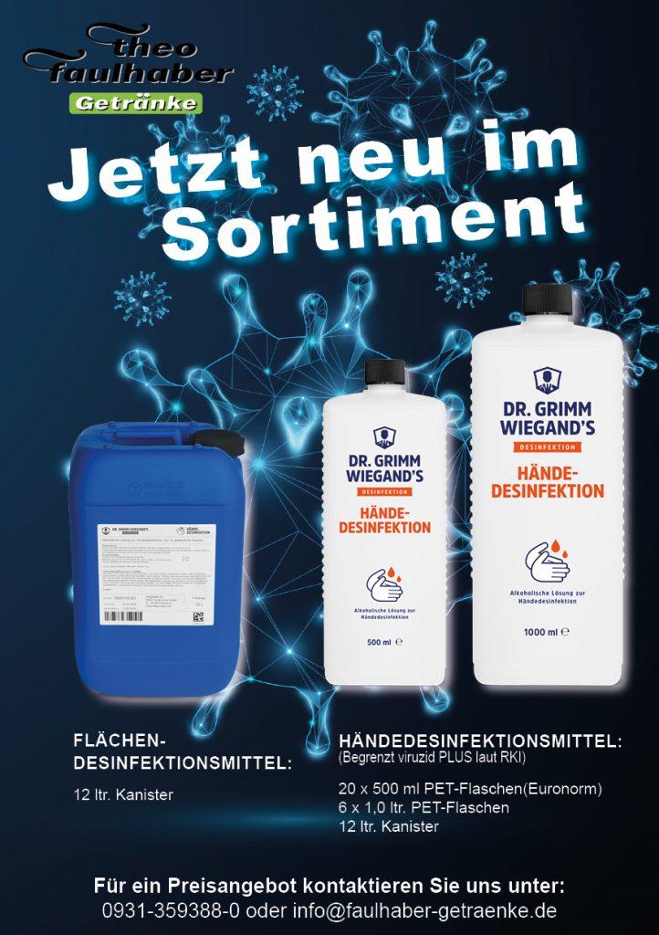 Neu im Programm Desinfektionsmittel